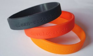 Clean Code Developer wristbands
